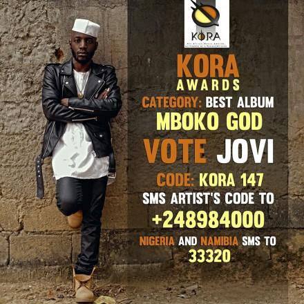 Kora Awards Nominates Jovi's Mboko God for Best Album! Vote Now!